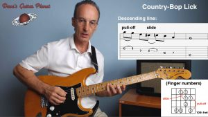 country bop intermediate guitar lick